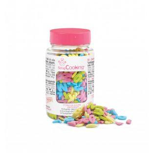 Sweet decorations in jar - Alphabet -...