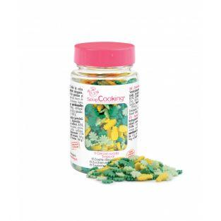 Sweet decorations in jar - Tropical -...