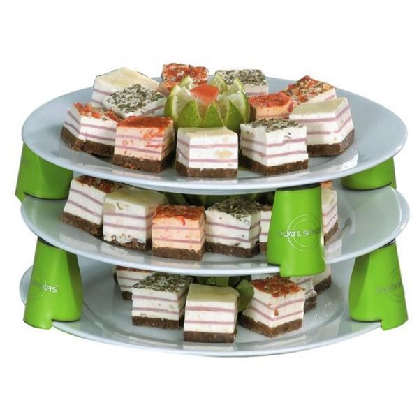 Plate spacers x 9 soportes de platos for Soporte platos cocina