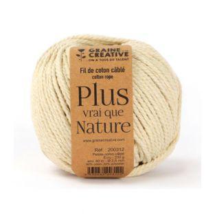 1 bola de algodón con alambre - Ecru