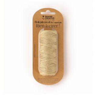 Spool of waxed jute yarn - 60 m x 1.5 mm