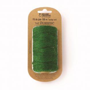 Jute yarn spool - Green - 100 m x 2 mm