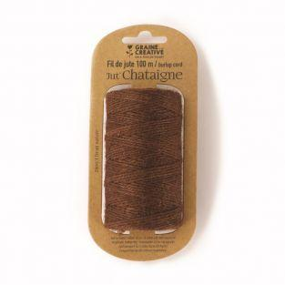 Jute yarn spool - Brown - 100 m x 2 mm