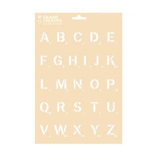 Schablone A4 - Alphabet-Scrabble