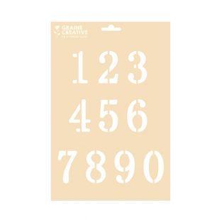 Stencil A4 - Cifre