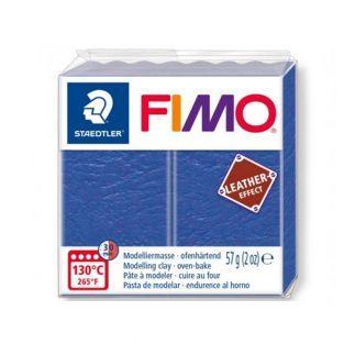 Pâte Fimo 57 g - Effet cuir - Indigo