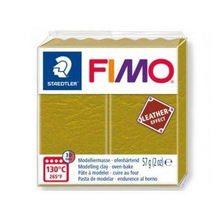 Pâte Fimo 57 g - Effet cuir - Olive