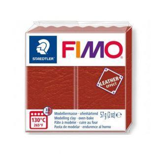 Pâte Fimo 57 g - Effet cuir - Rouille