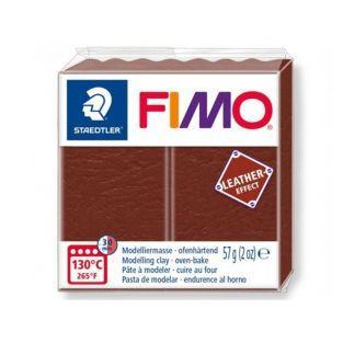 Pâte Fimo 57 g - Effet cuir - Marron