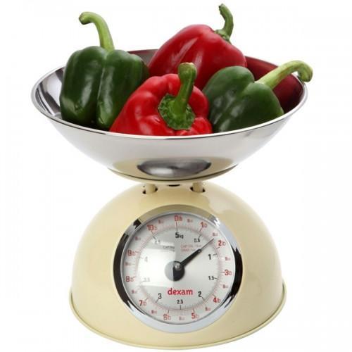 Balanza de cocina estilo retro 5 kg - beige
