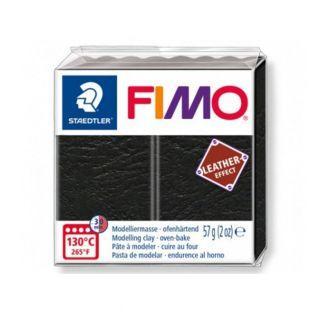Fimo-Paste 57 g - Ledereffekt - Schwarz