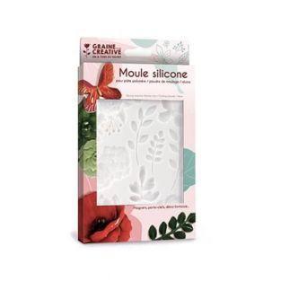 Silikonform für Polymerton - Blumen -...