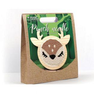 Punch needle set - Small doe ø 15 cm