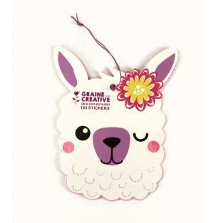 Carnet de 183 stickers - Lama