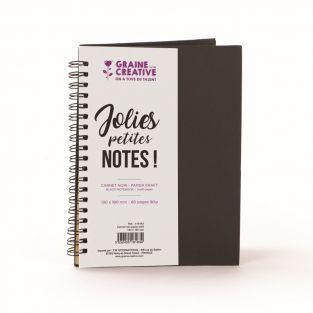 Cuaderno de espiral negro - Papel...