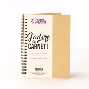 Quaderno a spirale Kraft - Carta nera...