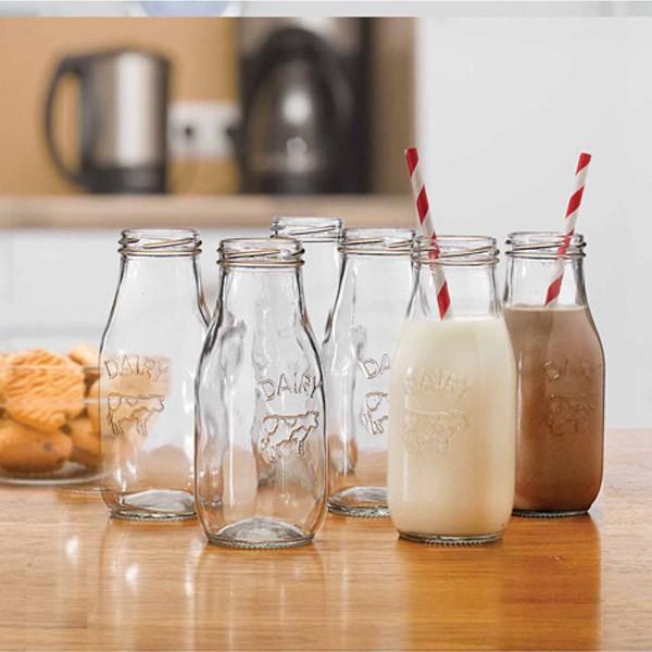 6 bouteilles de lait en verre 310 ml cuisine r tro youdoit