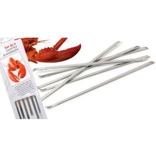 Tenedores para crustáceos x 6