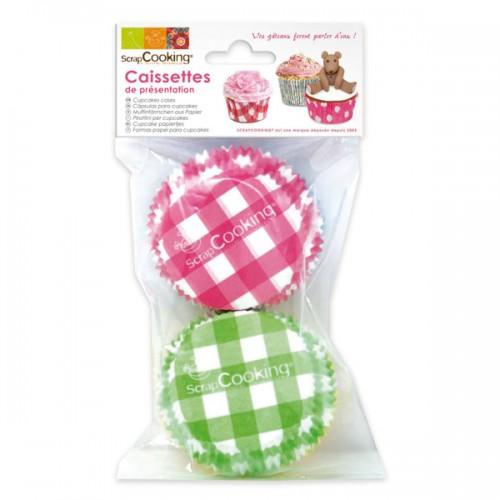 Caissettes pour cupcakes Vichy