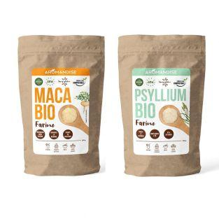 Organic Psyllium and Maca Flour Duo -...