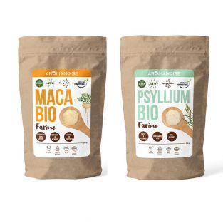 Psillio organico e farina di Maca Duo...