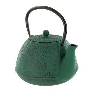 Emerald green Hanami cast iron teapot...