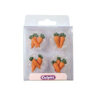 12 Decoraciones de azúcar - Zanahorias