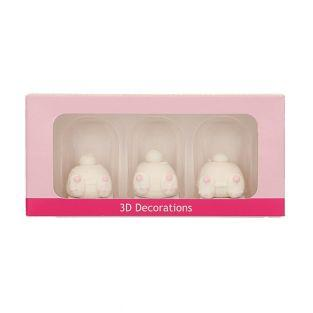 3 Decorazioni 3D di zucchero - Code...