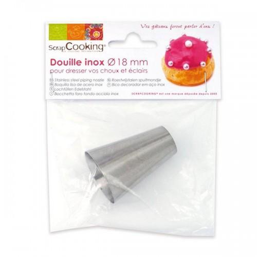 Boquilla lisa 18 mm - acero inox
