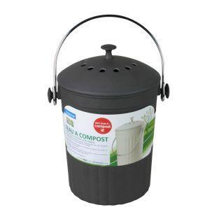 Seau à compost avec filtres antiodeurs