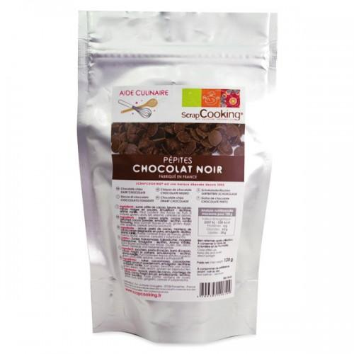 Black chocolate chips drops