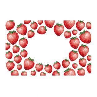 100 Etiketten für Konfitüren - Erdbeeren
