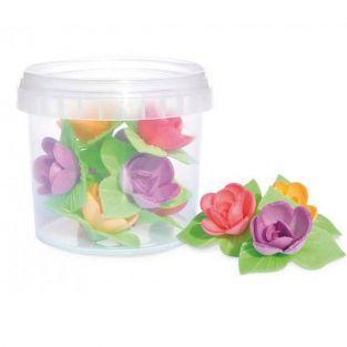 Hojas de oblea - 8 mini rosas