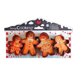 4 cortadores de galletas - Pan de...