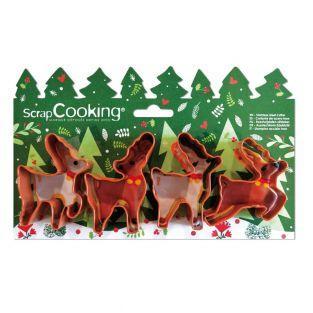 4 cortadores de galletas - Alces