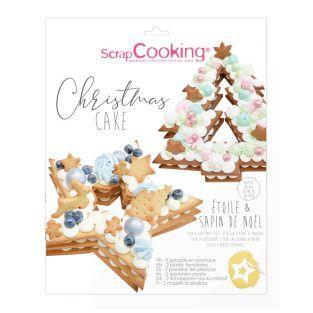 Juego de cajas para pasteles de Navidad