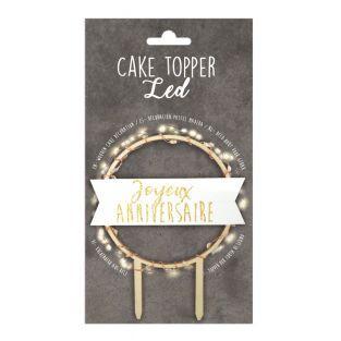 LED Cake Topper - Joyeux Anniversaire