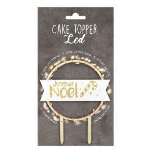 LED cake topper - Joyeux Noël