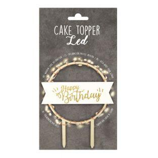 Cake topper LED - Happy Birthday