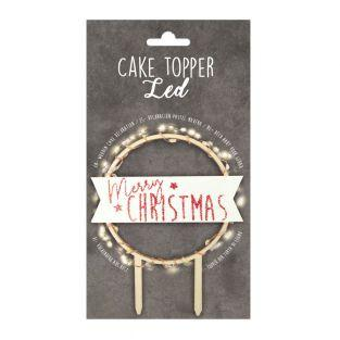 Cake topper LED - Merry Christmas