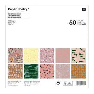 50 fogli per origami - Natura - 15 x...