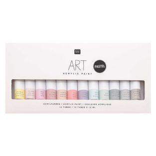 Acrylic paint set - Pastel - 12 x 12 ml