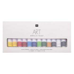 Acrylic paint set - 12 x 12 ml