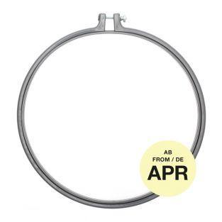 Stickerei-Ring - Grau - ø 25,4 cm