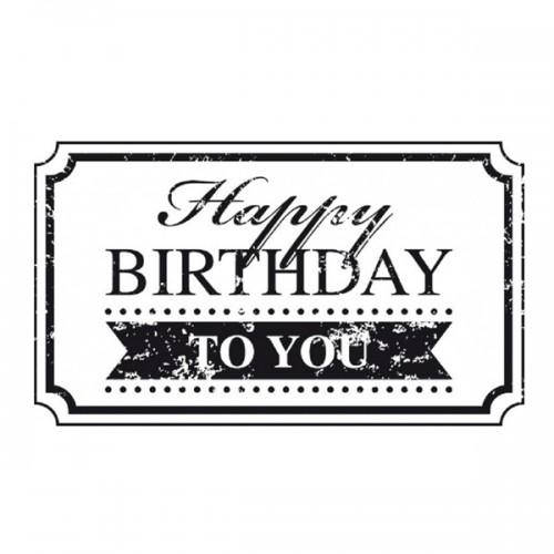 Wooden stamp - Happy birthday