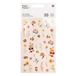 35 Gel stickers - Vive la Nature - Rose