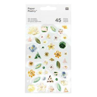 45 Stickers gel - Vive la Nature - Vert