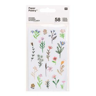 58 Aufkleber - Blumen