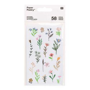 58 Pegatinas - Flores
