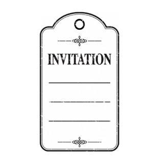 Holz Stempel - Invitation